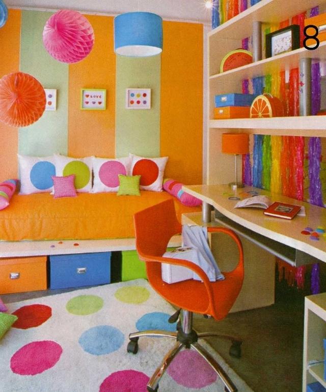 Decorar-dormitorios-infantiles-con-circulos-de-colores-3