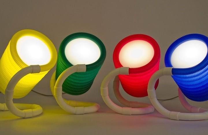 Ingenio y diseño: luminarias con cables corrugados