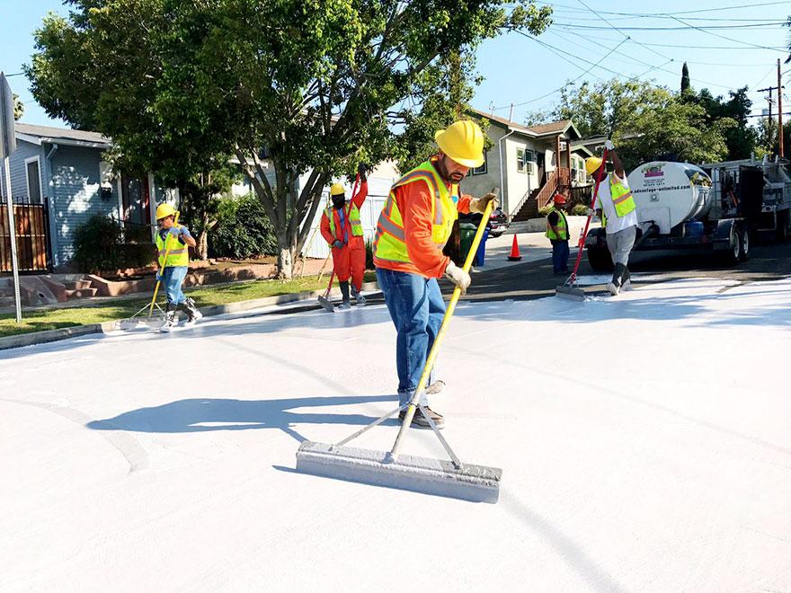 Pintura para bajar la temperatura del asfalto